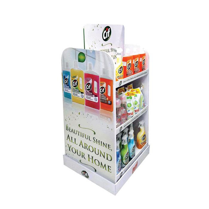 Custom retail store pos display product for sale,paper display racks,detergent cardboard display