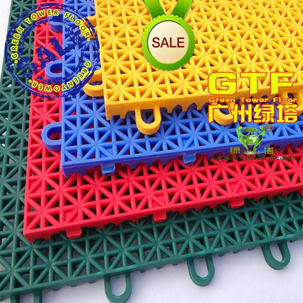 Colorful Sports Flooring Interlocking Tiles