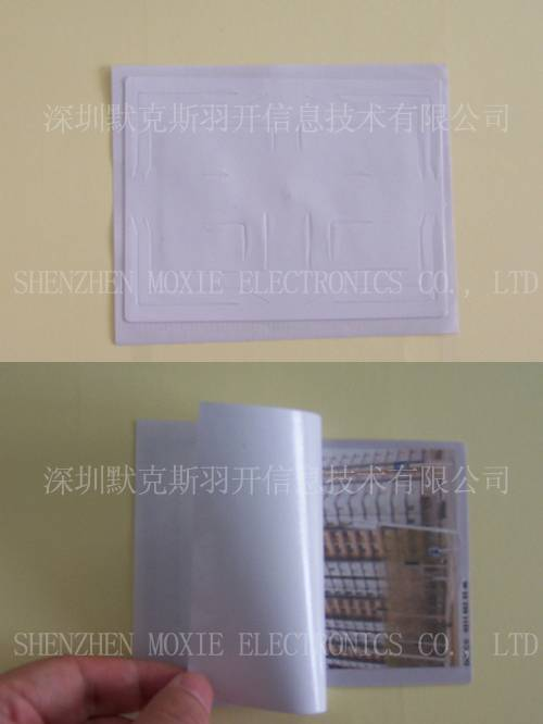 RFID UHF Windshield Adhesive Paper Tag, Long range reading