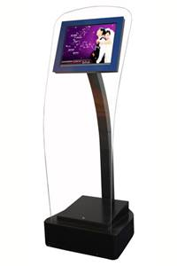 T18 Touchscreen kiosk with acrylic