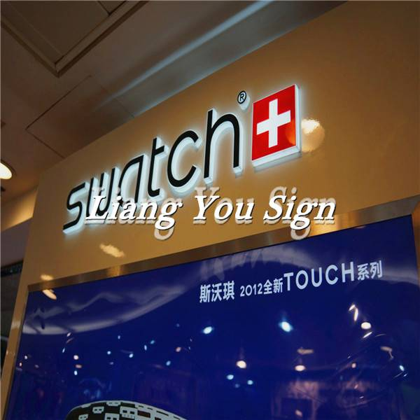 Durable SS Back Lit Advertising Store light up letters