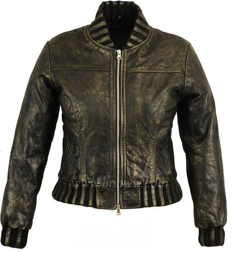 High Quality Soft Thin Ladies Fashion Leather Jacket