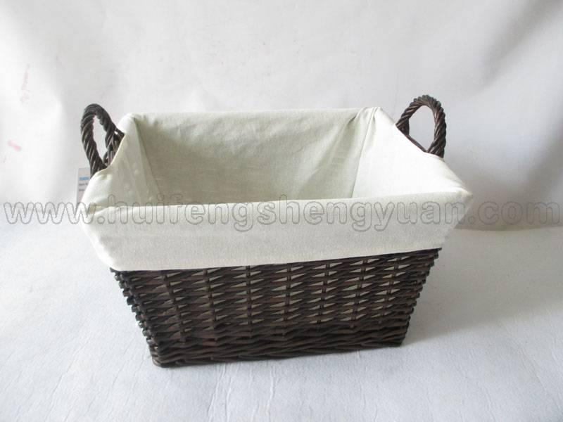 deep willow food storage basket