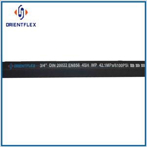 steel wire spiral rubber hydraulic hose EN 856 4SH