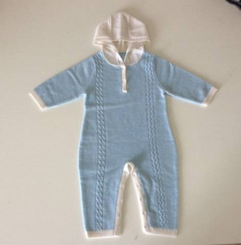 Baby 100% cashmere sweater jumpsuit