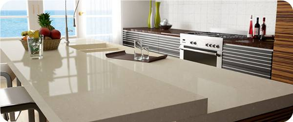 Beautiful and Durable Artificial Quartz Tabletops,Manmade Stone Tabletops with Laminated Edge,100% G