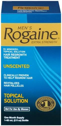 Rogaine for Men Hair Regrowth Treatment, Extra Strength Topical Solution