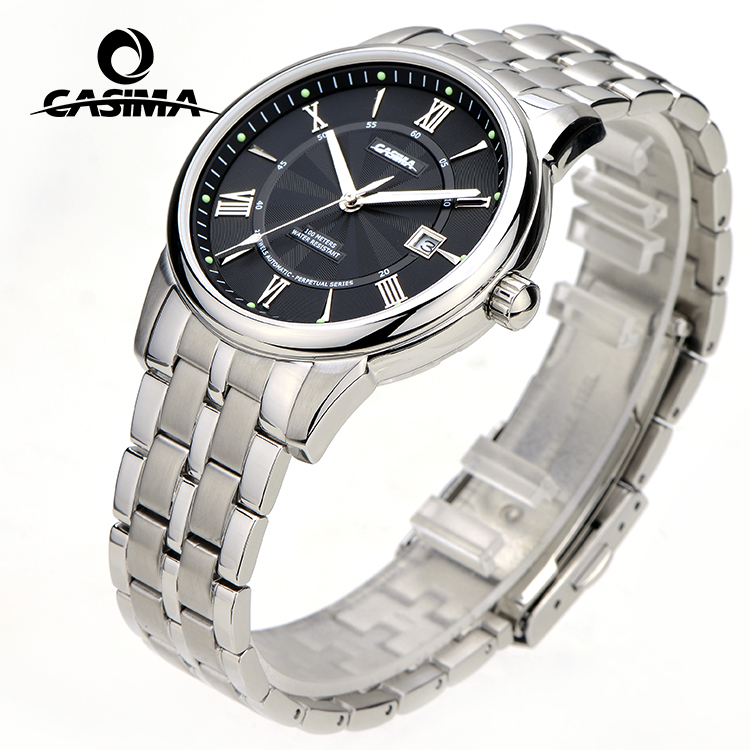 Classic stainless steel back water resistant smart watch