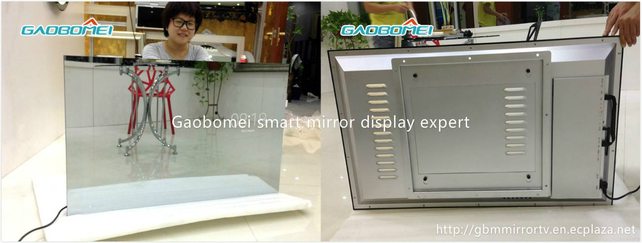 "Gaobomei 47"" AD Factory price media magic mirror ad player,magic mirror advertisement for"