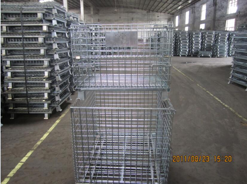Warehouse Galvanized Welded Wire Storage Cage with Heavy Duty