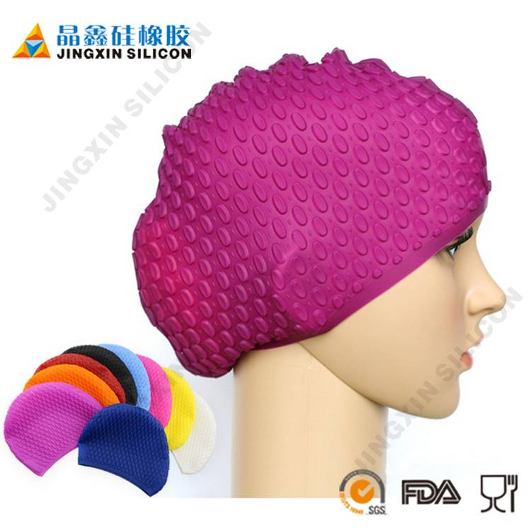 Woman Hair Design Soft Silicone Swimming Cap Japanese Mesh Swim Cap for Long Hair