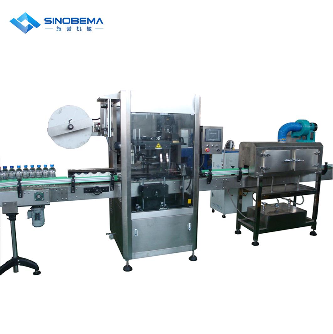 Labeling machine, for PVC shrinkabel labels