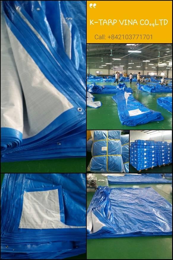 Blue White Tarpaulin - Korea Standard - Made in Vietnam