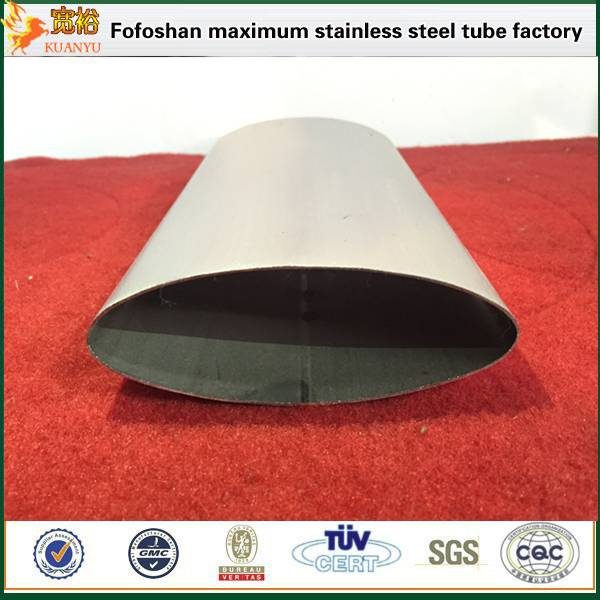 sus304 special shape stainless steel oval handrail tube 600 grit polish