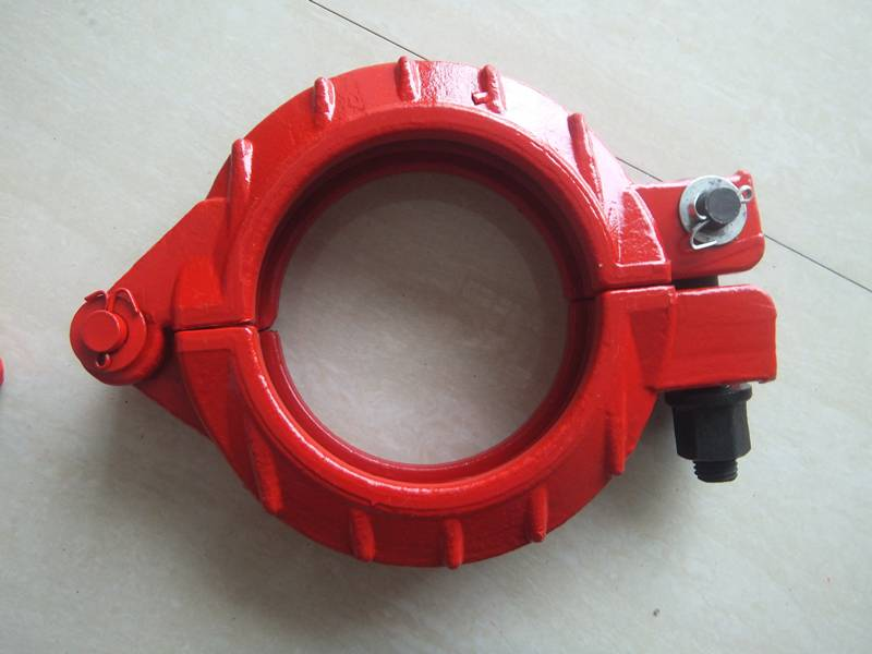 supply forged DN125 concrete pump pipe clamp coupling
