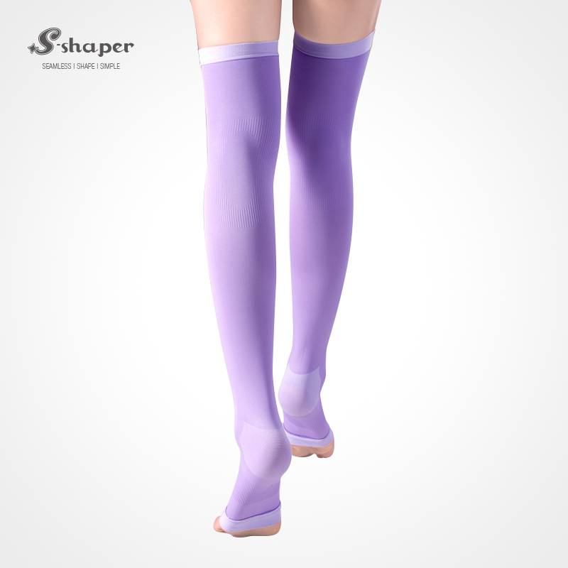 S-SHAPER Sleeping Thigh High Socks Premium Slimming Leg Varicose Veins Socks Overnight