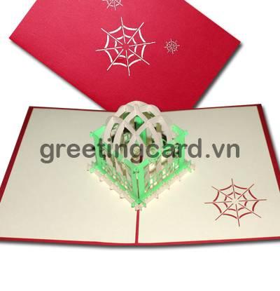 Magic box 3D pop up greeting card