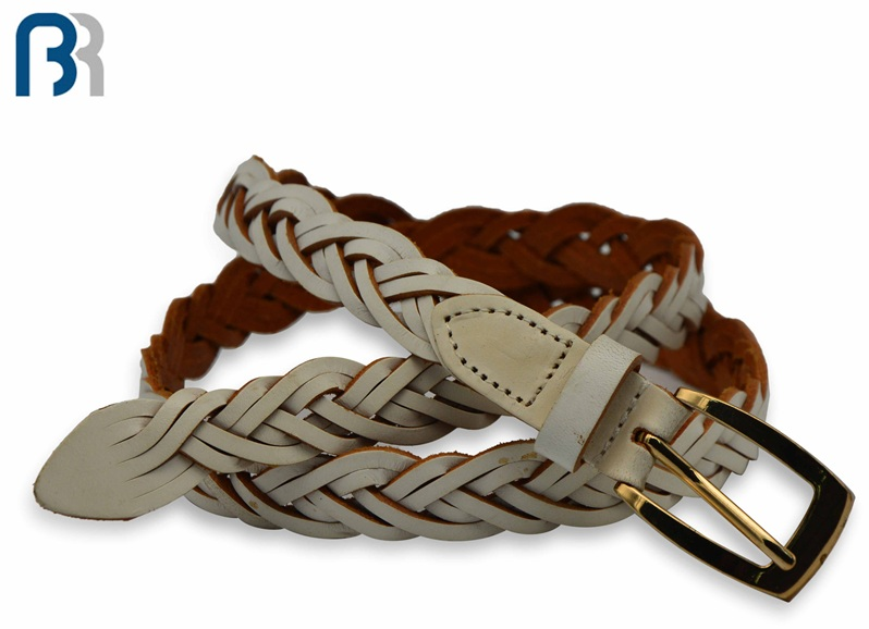 Ladies Braided with Gold Pin Buckle Belt