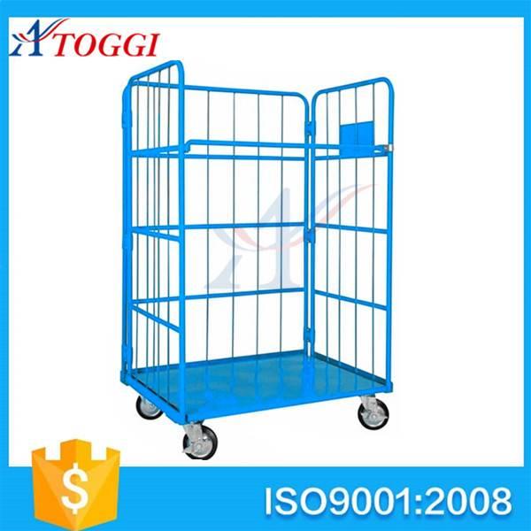 L shape foldable storage cart trolley