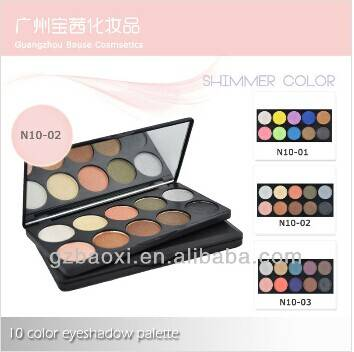 Shimmer color eyeshadow 10 color eyeshadow palette