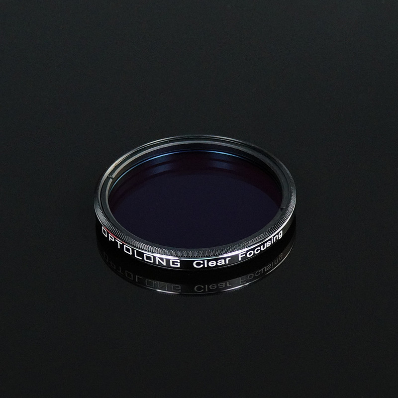 "Optolong 1.25"" Clear Focusing filter as protective window"