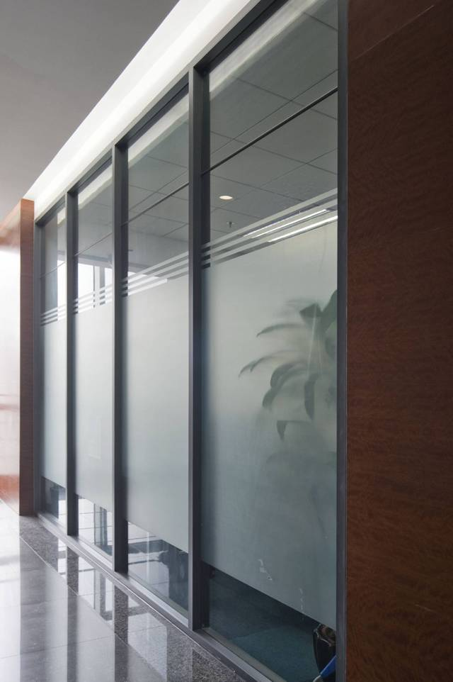 Denna offie partition single glass partition wall transparent high office partition wall