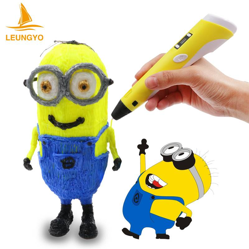 Free DHL Art Tool 3D Printer Pen 3D Printing Pen 3D Drawing Pen Support ABS PLA With LCD Screen
