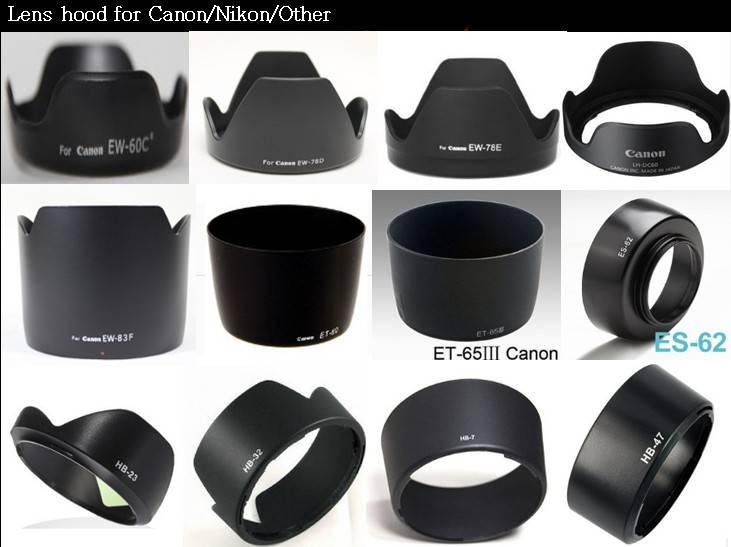 Camera lens hood for Nikon,canon,sony...
