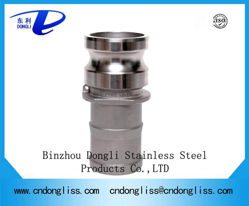 High Quality best price stainless steel Cam & Groove Quick Couplings, hose camlock fitting Type E