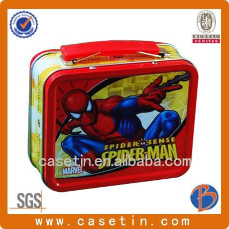 custom metal food grade lunch tin box for children