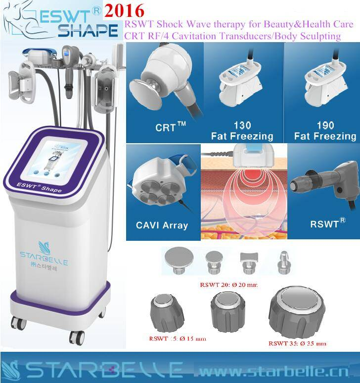 New 2016 Shock Wave Therapy Weight Loss Cryolipolysis Machine for Salon
