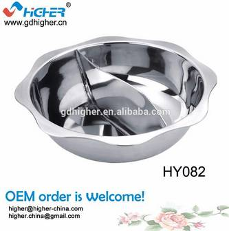 Stainless Steel Sauce Pot /hot Pot With Divider