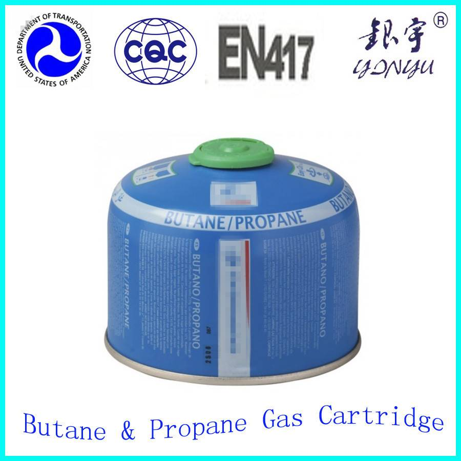 Empty butane gas cartridge/gas cylinder