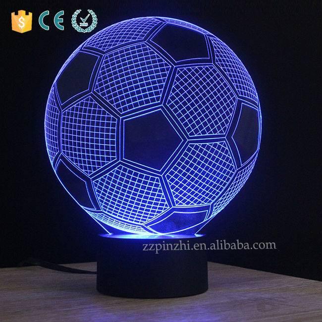 NL14 soccer shape table lamp with usb port
