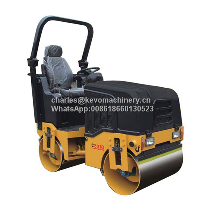 2T Hydraulic Double Drum Vibratory Road Roller