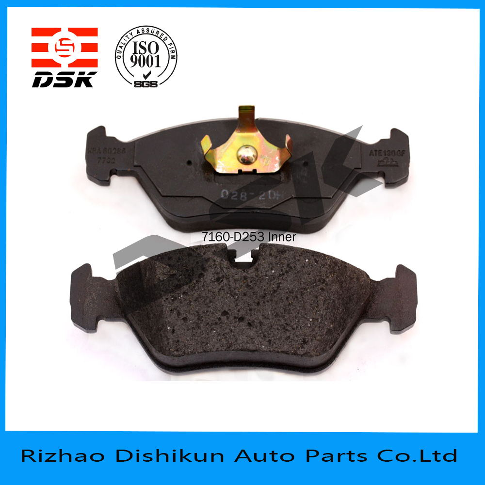 high quality and low noise auto part brake pad 7160-D253