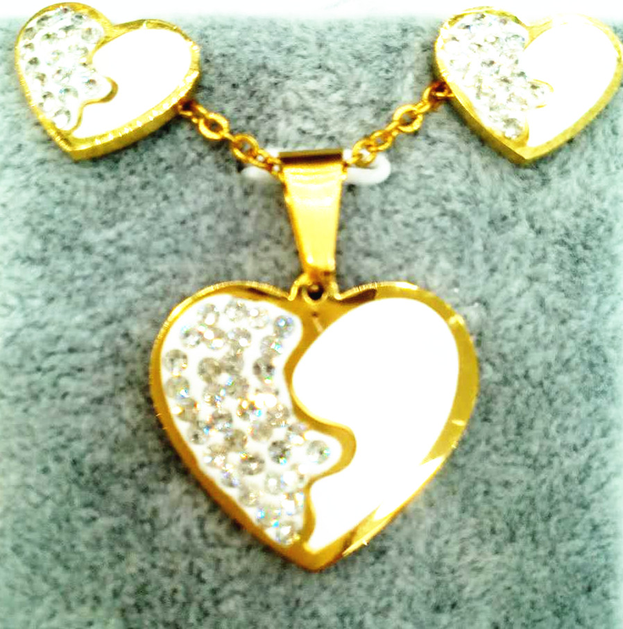 """His and Hers """"I Love You"""" heart key shaped custom stainless steel couple pendant love you"""