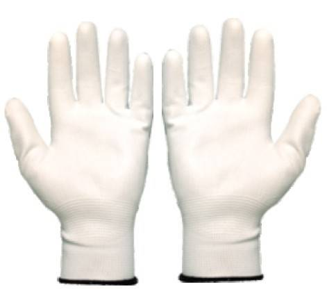 knitted poly/nylon gloves