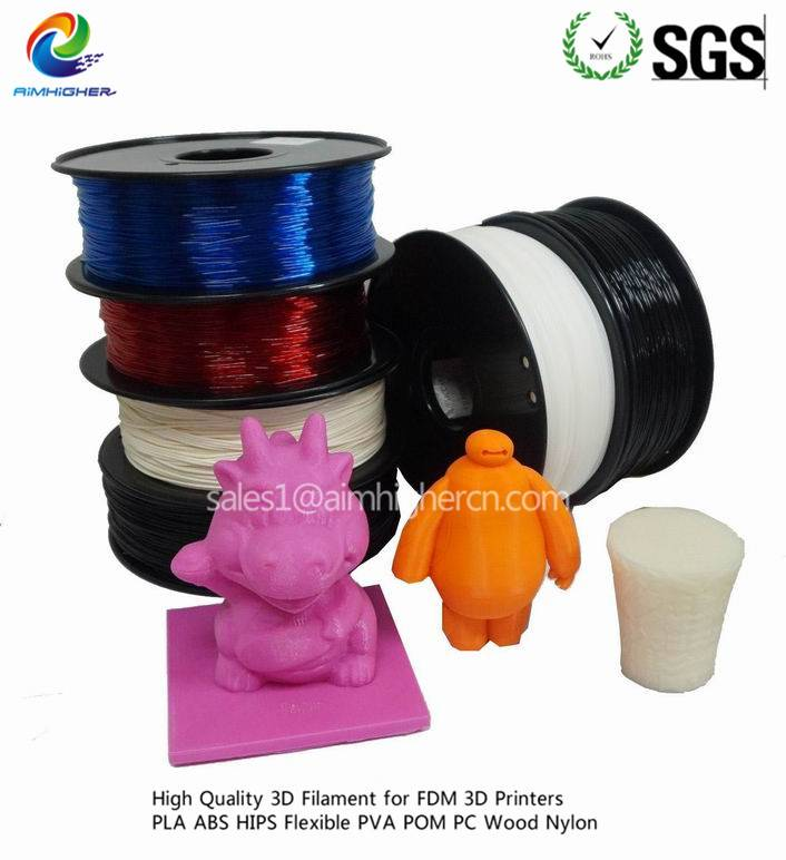 PLA 3D filament for 3D FDM Machine,customize color