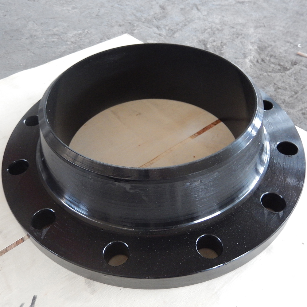 Carbon Steel ASTM A105 WN Flanges RF Butt Welded End 6 Inch(DN150)600LB (PN100) SCH 80 Black Coating