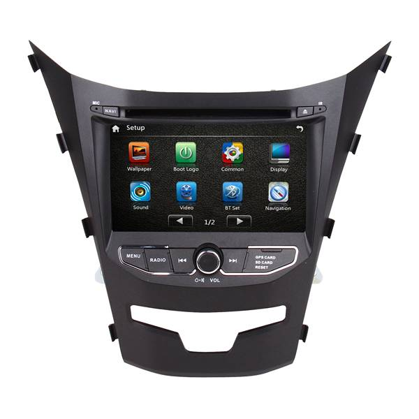 Car DVD GPS navigation system for Ssangyong Korando 2014