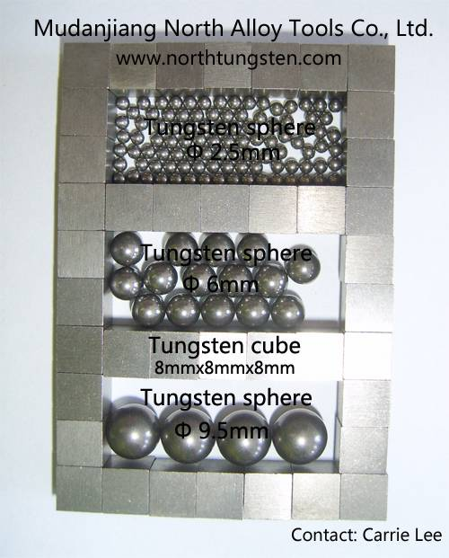 Tungsten alloy ball and cube