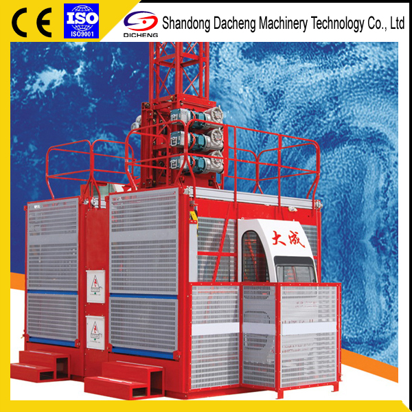 Factory Supplier Chinese 1-4 ton Construction Elevator For Sale