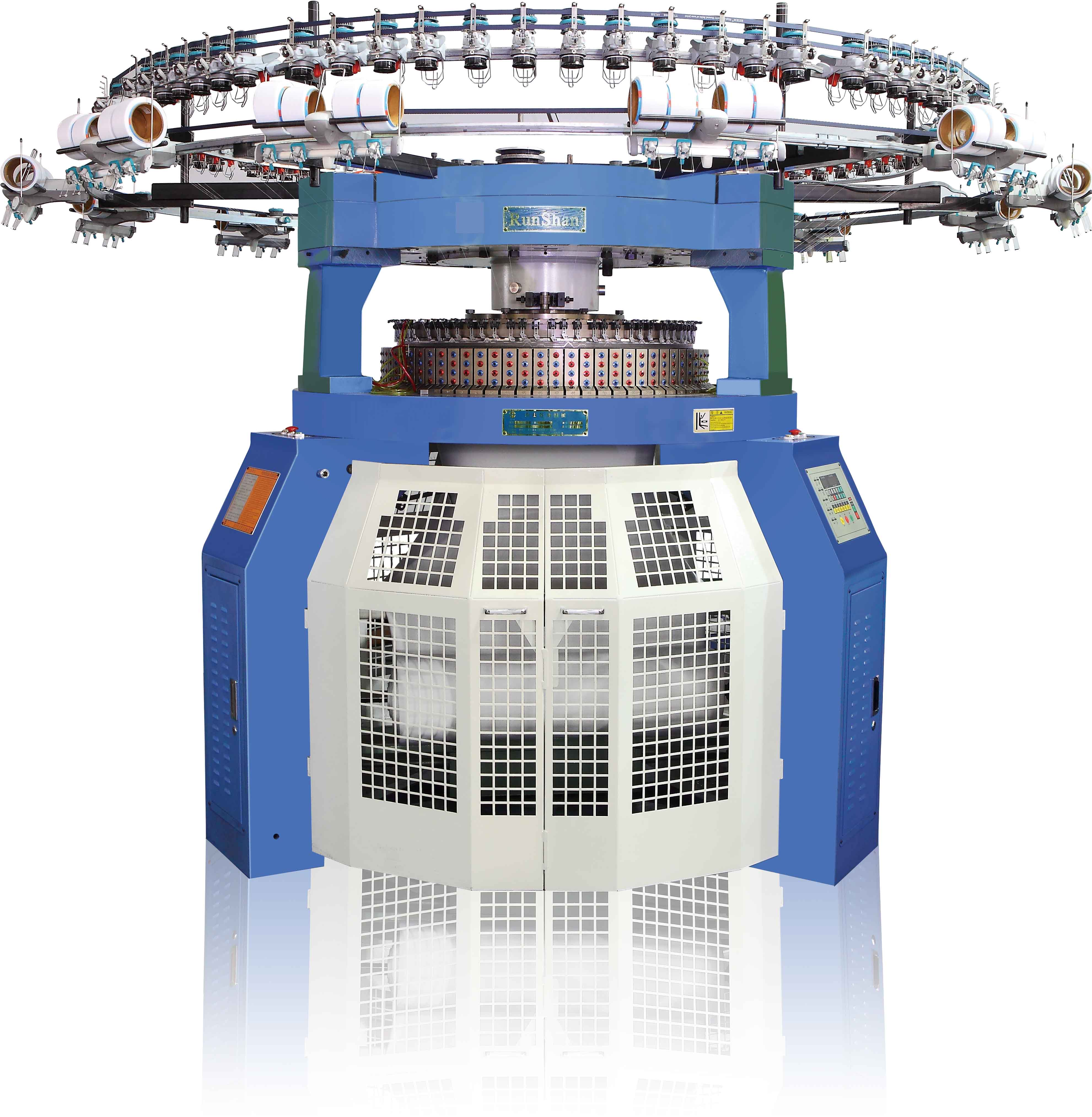 Interlock double jersey circular knitting machine