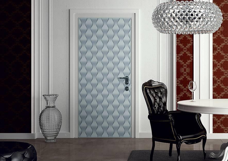 Security Door with Concealed Hinges