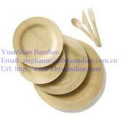 Round Bamboo disposable tableware