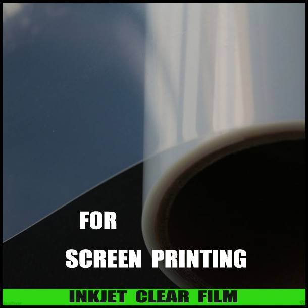 Inkjet clear film for plate making