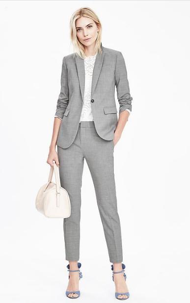 Slim Fit Fashion Women Trousers Suits