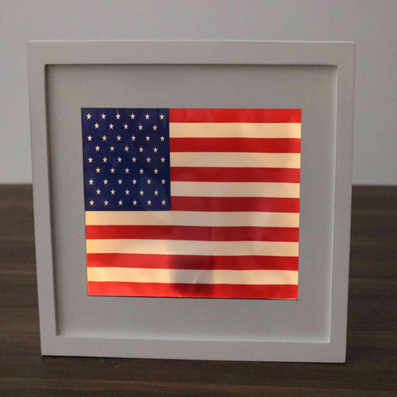decorative USA wooden wall plaque led
