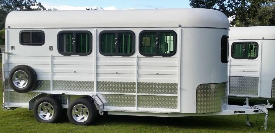 3 horse angle load standard horse trailer 3hal-s